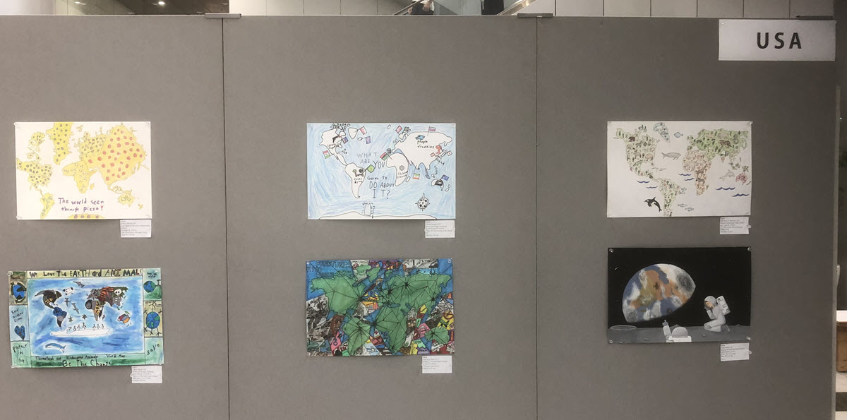 US childrens' maps in the 2019 Barbara Petchenik Children's World Map Drawing Competition.